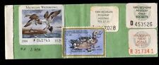 Michigan 1982 Resident Hunting License/ Rw49 + State Stamps -561
