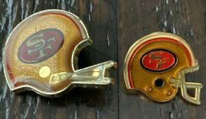 Vintage San Francisco Forty Niners 49ers Pinback Button and lapel 1970's 1980's