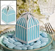 Birdcage Blue and White Wedding Favor Gift Boxes (12 Pack)