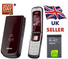 New Condition Nokia Brand 2720 Red Flip  Big Button Big Screen Big Font Phone