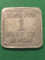 Vintage Token A.T.Roth Milk, Square Coin Good For 1 Quart Milk Vintage Coin T3