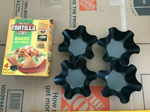 Perfect Tortilla Maker Pan Set of 4 Metal Non Stick Easy Clean Baked 5 Minutes