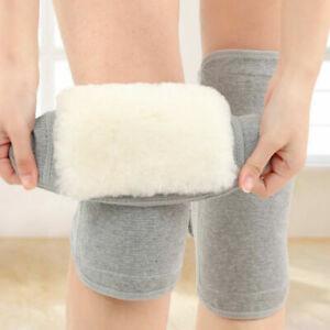 Wool Thermal Knee Joint Warmers Winter Arthritis Brace Protector Sleeve Compress
