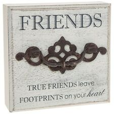 friends rustic wooden plaque quotes saying gift present homeware free standing