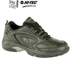 Hi-Tec Blast Lite Black Lace Up Sports Gym Trainers Mens Size 6 - 16 uk