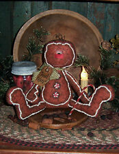 Primitive Gingerbread Man Cookie Christmas Patti's Ratties Paper Pattern #382