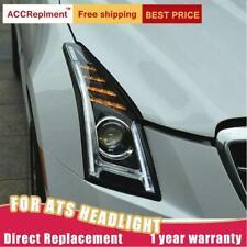 2Pcs Headlights assembly For Cadillac ATS 13-19 Led Lens Projector LED DRL