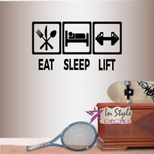 LIVE LOVE LIFT weights vinyl sticker fitness saying for wall home car gym den