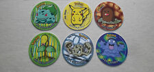 POKEMON TAZOS/TASOS/POGS/CHIPS/CARDS/COINS , EXCELLENT CONDITION , LOT OF 6