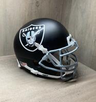 Custom Vegas Raiders Mini Helmet Matte Black & Silver Alternate Concept Schutt