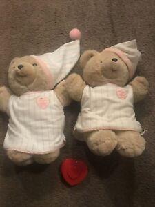 "Vtg 1986 Heart To Heart Teddy Bear Plush 18"" Chosun Works ❤️ BEATS LOT"