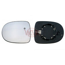 RENAULT CLIO 2009->2011 DOOR MIRROR GLASS SILVER CONVEX,HEATED & BASE,LEFT SIDE