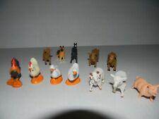 Lot Of 12 Vintage 1990s Safari Ltd Hard Plastic Farm Animals Toys