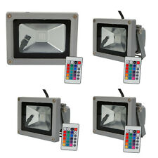 Lot4 RGB 10W Memory LED Flood Light Landscape Lamp Waterproof + Remote Control