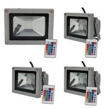 Lot4 RGB 10W Memory LED Flood Light Landscape Lamp Waterproof + Remote Control