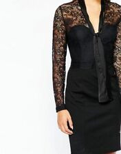 Lipsy V Neck Lace Wiggle, Pencil Dresses for Women