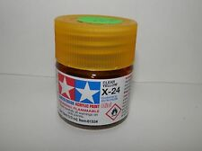 Tamiya Color Acrylic Paint Mini Clear Yellow #X-24 (10ml) NEW