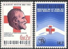 Belgium 1977 Red Cross/Medical/Health/Doctor/Blood Transfusion 2v set (n28212)