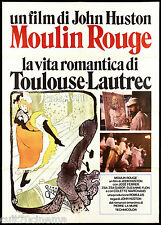MOULIN ROUGE MANIFESTO CINEMA JOHN HUSTON FILM TOULOUSE LAUTREC MOVIE POSTER 2F