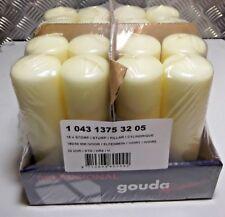 16X Gouda Ivory Pillar Candle 18cm x 5cm ( 180mm x 50mm)