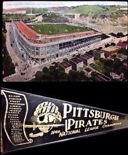 Pittsburgh Pirates Baseball Wool Pennant & Very Rare Forbes Field 1st Post Card