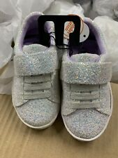 Wonder Nation Girls Toddler Athletic Shoes White/Purple Glitter Size 7 New