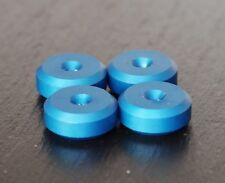 Blue-British hecho - 4x Altavoz Spike Almohadillas de aluminio CNC Xlarge Zapatos Pies