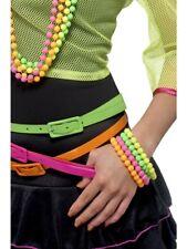80er Armband Neonkette Neon Nights 4-farbig 4 Ketten