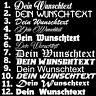 1x WUNSCHTEXT 10cm Breit Aufkleber Auto Domain Cartattov Beschriftung Schriftzug