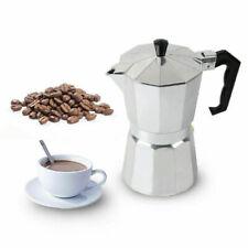 Italian Espresso Maker 1, 2, 3, 6 & 9 Cup Stove Top Coffee Percolator Moka Pot