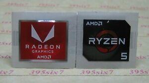AMD RADEON GRAPHICS STICKER + AMD PROCESSOR CPU STICKER 2020