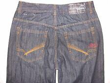Rocawear 34 Actual Size 33 1/2 X 31 Blue Zipper Fly Baggy Men's Jeans