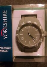 Yorkshire Premium Watch Gray Manual Unisex New In Box 2015