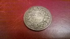 SWITZERLAND  2 francs 1879