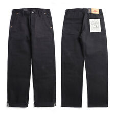 Selvage 14oz Redline Denim CHINO Wide-legged Jeans Men's Biker Officer's Trouser
