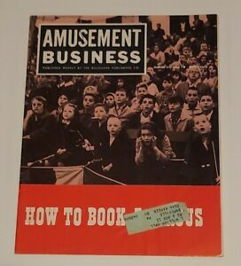 Amusement Business How to Book a Circus ~1962 Fairs Advertising