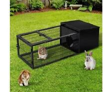 Pet Rabbit Guinea Pig Chicken Run Animal Metal Cage House Hutch Coop Lockable