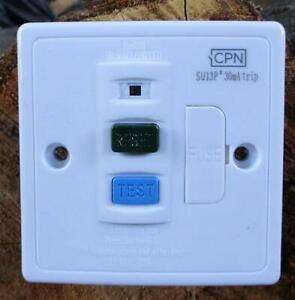 Quality13A 30ma RCD Fused Spur  up to 13A Mount in Metal Depth Box or Cavity Box
