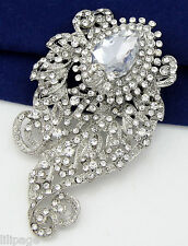 Sparkly Special Crystal Diamante Silver Coloured Brooch Pin Xmas Gift Present