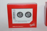 Herpa 052788  Radsätze für Zugmaschine einteilig  chrom  1:87 H0 NEU in OVP