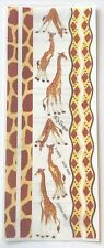 GIRAFFE NRN DESIGNS VELLUM STICKERS 5X12 IN. SHEET PRINT ZOO SAFARI AFRICA