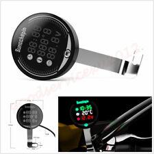 Waterproof Multifunction Motorbike 3in1 Handlebar Voltage Temperature Time Gauge