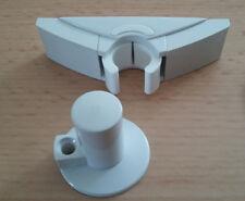 5 Türfeststeller Hart PVC weiß Clip Feststeller 6140185