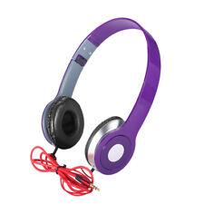 Teens Kids Childs Foldable DJ Headphones 3.5mm Wired Game Earphones HVCA
