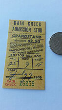 Ticket for Tigers at Red Sox Game, July 9, 1969-Carl Yastrzemski 2 Homers