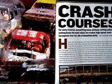 """Demolition Derbys Original Magazine Article & Pictures 6 pages 9 x 11"""""""