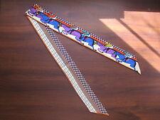 Premium Silk Twilly Scarf 100% Silk Twill Scarf Handbag Tie Belt Chain Headwrap