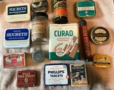 Vintage Medicine Tins, Cardboard Boxes, Jars & Misc. (Lot Of 15)