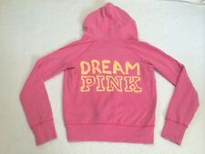 Victoria's Secret Pink S Small Dream Orange Puppy Dog Hoodie Sweatshirt
