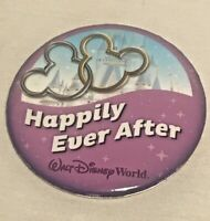 DISNEY Happily Ever After Walt Disney World Button Pin Badge :